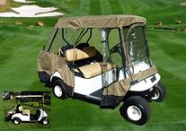 Golf Cart Driving Enclosure for 4 seater with 2 seater roof