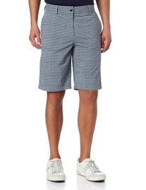 adidas Golf Men's Climalite Neutral Plaid Shorts, Chrome/
