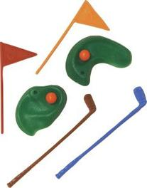 Oasis Supply 6-Piece Golf Green with Clubs and Flag set Cake