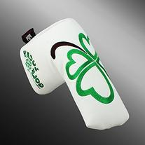 Craftsman Golf Green Lucky Clover Headcover Putter Cover For
