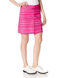 Puma Golf NA Women's Line Stripe Skirt, Fuchsia Purple, 4