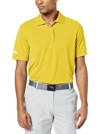 adidas Golf Men's Puremotion Solid Jersey Polo, Vivid Yellow