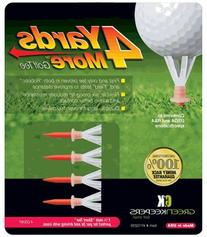 """4 Yards More Golf Tee - 1 3/4"""" - Red"""