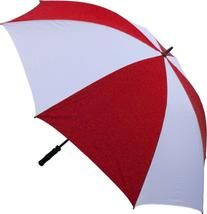 RainStoppers Golf Umbrella with Foam Rubber Handle, Red/