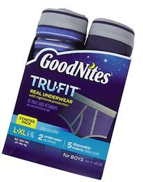 GOODNITES Tru-Fit Real Underwear with Nighttime Protection