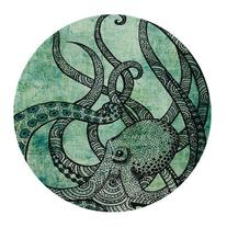 Gorgeous Cool Octopus Color Printed Mousepad Round Non Slip