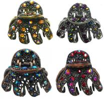 Set of 4 Gorgeous Jaw Clips YY86410-GL56-4colors