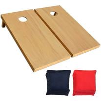 GoSports Regulation Size Wooden CornHole Set Includes 8