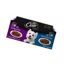 CESAR GOURMET FILETS Variety Pack Filet Mignon & New York