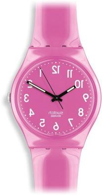 Swatch Women's GP128 Pink Plastic Watch