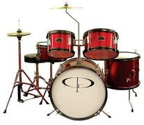 GP Percussion GP55WR 5-Piece Junior Drum Set with Cymbals