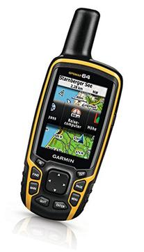 Garmin GPSMAP 64 Worldwide with High-Sensitivity GPS and