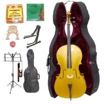 GRACE 1/2 Size GOLD Cello with Hard Case + Soft Carrying Bag