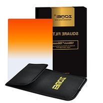 Zomei Gradual Orange Square Z-PRO Series Filter for Cokin Z
