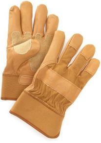 Carhartt Men's Grain Leather Work Glove with Safety Cuff,