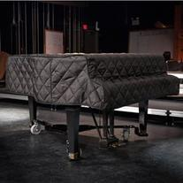 """Grand Piano Cover Black Quilted for Pianos From 4'10"""" - 5'2"""