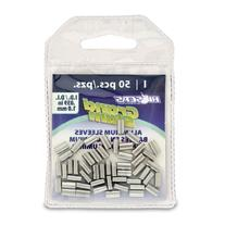 Hi-Seas Grand Slam Aluminum Crimp Sleeves, 1.0 Millimeter, 50 Piece Pack