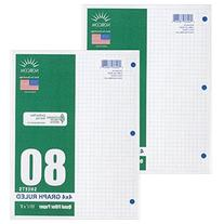 Graph Filler Paper 4x4 Ruled 2 Pack of 80 Sheets Each
