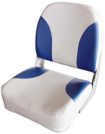 Leader Accessories Gray/Blue Deluxe Marine Folding Boat Seat