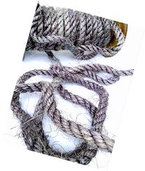 100' Gray Sisal Rope, Purple Sisal Rope, Dyed Charcoal Color