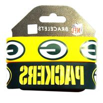 Green Bay Packers Rubber Wrist Band Set of 2 NFL