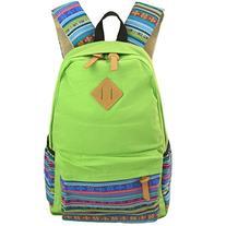 Unisex Fashionable Canvas Zip Bohemia Boho Style Backpack