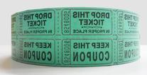 Green Double Raffle Ticket Roll
