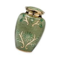 Green Garden Adult Cremation Urn - Exquisite Brass Funeral