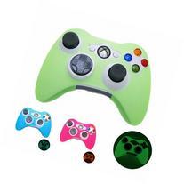 GREEN GLOW in DARK Xbox 360 Game Controller Silicone Case