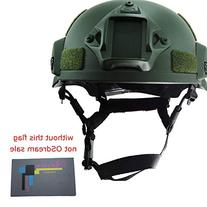 OSdream Green MICH2002 Low Price Action Version Helmet for