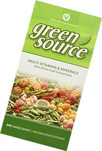 Vitamin World Green Source Multi Vitamins and Minerals, 240
