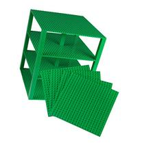 "Premium Green Stackable Base Plates - 4 Pack 10"" x 10"""