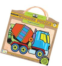 Innovative Kids Green Start Wooden Puzzles: Mighty Mixer