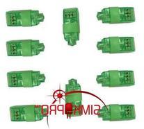 10 Pack GREEN ONLY Super Bright Finger Flashlights - LED