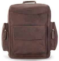 LEABAGS Greensboro genuine buffalo leather camera backpack