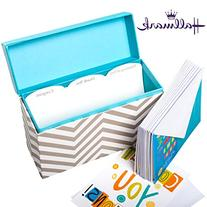 Hallmark Greeting Card Organizer Display With 12 Cards &