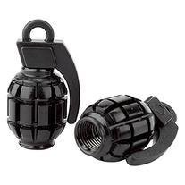 Black Ops Grenade BMX Schrader Valve Caps, Black