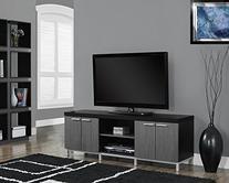 Monarch Specialties Black/Grey Hollow-Core TV Console, 60-