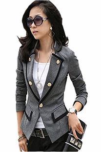 NI9NE Brand Grey Military Style Jacket - Small  Item #
