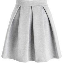 Miss Selfridge Grey Ponte Skater Skirt