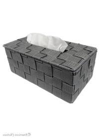 Grey/Silver Woven Nylon Rectangular Kleenex Tissue Dispenser