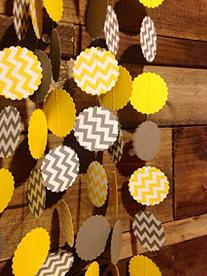 Grey and White Chevron and Yellow and White Chevron Paper