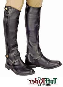 TuffRider Grippy Grain Half Chaps XLarge Black