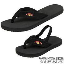 Rainbow Sandals Boys Grombows Black Neoprene Sandals 2 M US