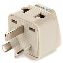 OREI Grounded Universal 2 in 1 Plug Adapter Type I for