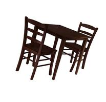 Groveland 3pc Square Dining Table with 2 Chairs Groveland