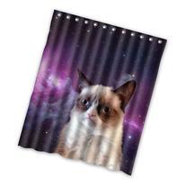 Grumpy Cat Custom Polyester waterproof Bath Shower Curtain