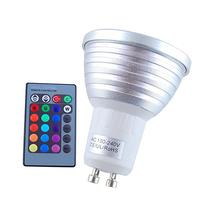 Excellent 3W GU10 RGB LED Bulb Ball Lamp + Remote Control 16