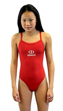 Adoretex Guard Thin Strap Swimwear- - Red - 40