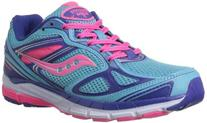 Saucony Girls Guide 7 Running Shoe ,Blue/Pink/Purple,4.5 M